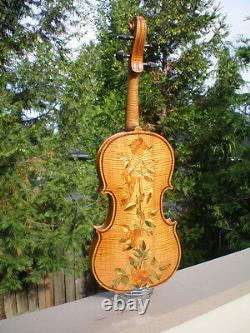 1903 W. R. Mccord Inlaid Violin Oregon Music History