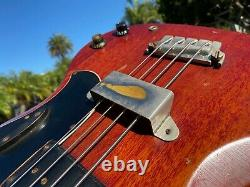 1963 Gibson EB-0 4 String Bass Vintage Cherry Red with Case