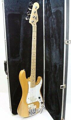 1982-85 Fender Elite 4 String Precision Bass Guitar Made in U. S. A with Hardcase