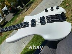 1990 Kubicki 4 String Bass Pearl White with Fender Custom Shop Stamp