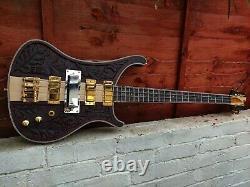 24 HOUR COURIER Custom Neck Through Lemmy 4 string bass guitar