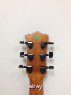 34 Inch All-Mahogany Travel Acoustic Guitar withEQ Bag Picks String Caraya safair