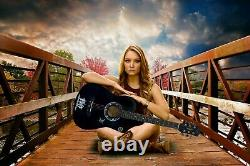 38 Classic 6 String Acoustic Guitar With Carry Bag For Kids 4/4 Guitar