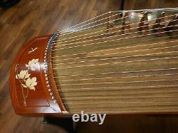 49 Travel 21-String Laminated Rosewood Guzheng, Chinese Zither Harp