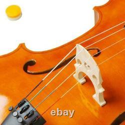 4/4 Full Size Student Wood Cello + Bag + Bow + Rosin + Bridge Natural Color UK