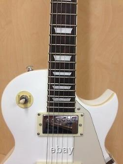 4/4 Haze SEG-277WH Solid Body Electric Guitar White + Gig Bag + Strings