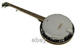 5 String Banjo with Remo Head/ Bluegrass Banjo Quality Wooden & Aluminium Shell