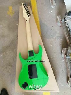 7 String Universe UV777 Guitar Green HSH Pickups Tremolo Bridge Electric Guitars
