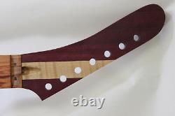 7 string Reversed Purpleheart Neck-fits ibanez (tm) rg jem UV bodies- N136