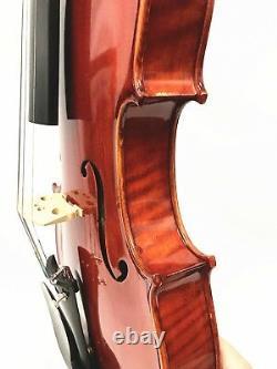 ADVANCED 4/4 SIZE VIOLIN, Dominant Strings + Despiau Bridge, DEEP & POWERFUL TONE