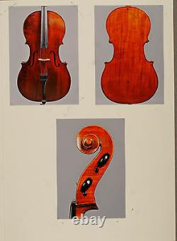 A very fine, old certified French cello by Francois Barbe Pere, ca. 1835