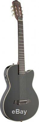 Angel Lopez Cutaway Electric Nylon String Classical Guitar with Solid Body Black
