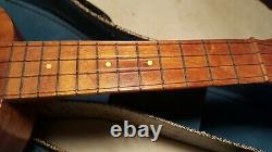 Antique Kamaka Ukulele with Carry Case Estate Find Well Preserved Condition