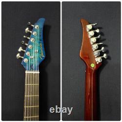 Baracuda Nylon String Electric Guitar, Solid Mahogany+Free Bag SCC-100 Teal Blue
