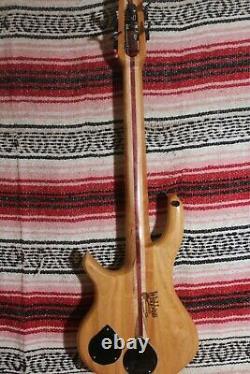 Bass Fretless 4 String Cherry Minnie Wishbass Short Scale 28 Piezo Pickup
