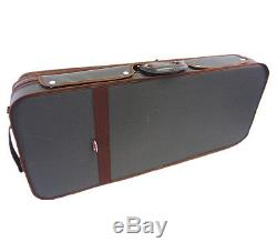 Beautiful Interior 4/4 Wooden Two/Double Violin Case + Free violin strings set