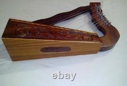 CC Irish Harp 12 String Sheesham Wood/Celtic Harp Rose Wood Free Carrying Case
