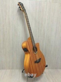 Caraya Safair 40 Electro-Acoustic Cutaway Guitar, All-mahogany, Matt+Bag, String