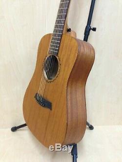 Caraya safair 36-EQ All-Mahogany Parlor Acoustic Guitar withEQ + Gig Bag + Strings