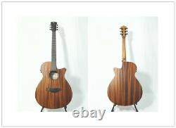 Caraya safair 40-CEQ All-Mahogany Parlor Acoustic Guitar withEQ + Gig Bag +Strings