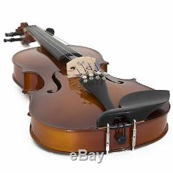 Cecilio 4/4 CVN-320L Left Handed Ebony Violin +Book/Video+Tuner+Case
