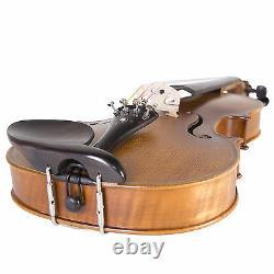 Cecilio 4/4 CVN-500 Flamed Solidwood Violin Ebony Fitting+Book/Audio/Video+Tuner