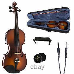Cecilio Acoustic Electric Violin Antique Varnish Ebony Fitted Cvnae-330