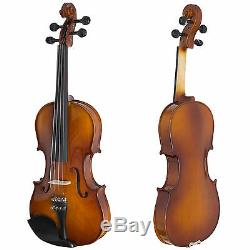 Cecilio CVN-300 Ebony Fitted Solid Wood Violin + Tuner and Lesson Book, Size 4/4
