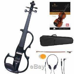 Cecilio Size 4/4 Electric Violin Ebony Fitted Black Style2