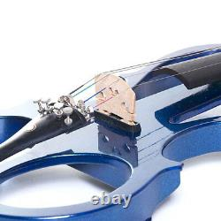 Cecilio Size 4/4 Electric Violin Ebony Fitted Blue Style1