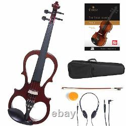 Cecilio Size 4/4 Electric Violin Ebony Fitted Red Style1