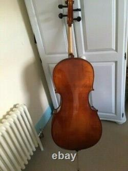 Cello full size 4/4 with bow and soft case. Student cello