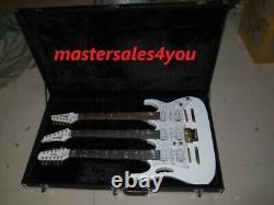 Custom 3 Neck White JEM 7V Triple Neck 6/6/12 string white IBZ electric guitar