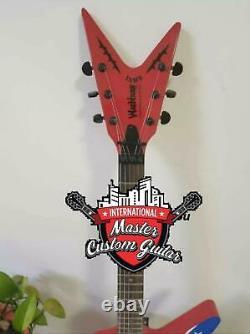 Custom 6 String Rare Shaped Guitar Wash Dime 333 Dimebag Darrell Signature Rebel
