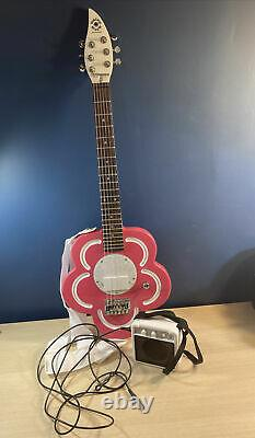 Daisy Rock Girl Guitars RH Pink Flower Electric Guitar w Amp, Soft Case & Strap