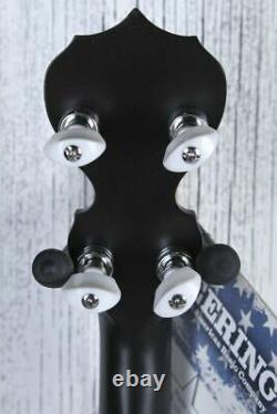 Deering Goodtime Blackgrass 5 String Resonator Banjo Black Satin Made in the USA