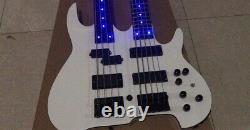 Double neck electric bass guitar one 4 string/one 5 string, active pickups led