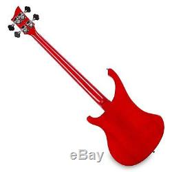 Electric Bass Guitar Humbucker Pickups Longscale 20 Frets 4 Strings Red Sunburst