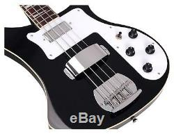 Electric Rock Bass Guitar Humbucker Pickups 20 Frets 4 Strings Black Finish
