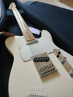 Fender Player Telecaster Electric Guitar Olympic White Case & Strings Inc