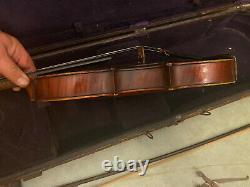 Fine Old Antique French Violin Made By Felix Leroux Paris France Circa 1896 Nice