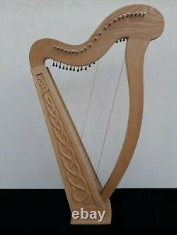 Gevon 22 Strings Ash wood Irish Harp with Levers, Bag & Booklet Ragga H8L