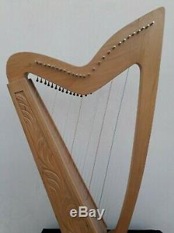 Gevon 27 Strings Levers Ash wood Celtic Irish Harp, Bag & Book Limerick H10L