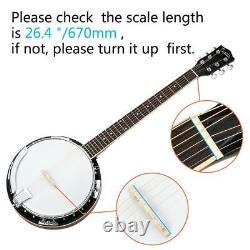 Glarry Top Grade 6-string Banjo Professional Sapele Notopleura Wood Alloy
