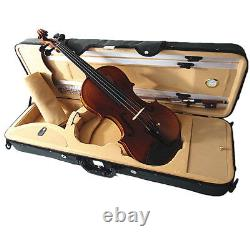Good Quality 4/4 Flamed Back Violin+Octagonal Stick Bow+Rosin+Square Case+String