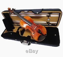 Good Quality 4/4 Nice Violin+Octagon Stick Bow+Rosin+Square Case/Free string set