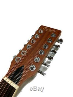 Great Playing New 12 String Deluxe Acoustic Electric Round Back Guitar