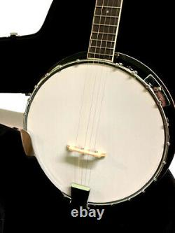 Great Playing New 5 String Bluegrass Banjo With High Quality Hard Shell Case