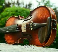 Handmade Antique Maple Violin Musical Instrument With Fiddle Case Bow And Rosin