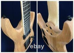 Haze E007NOIL Solid Body 7-String Electric Guitar Natural Oil + Free Gig Bag